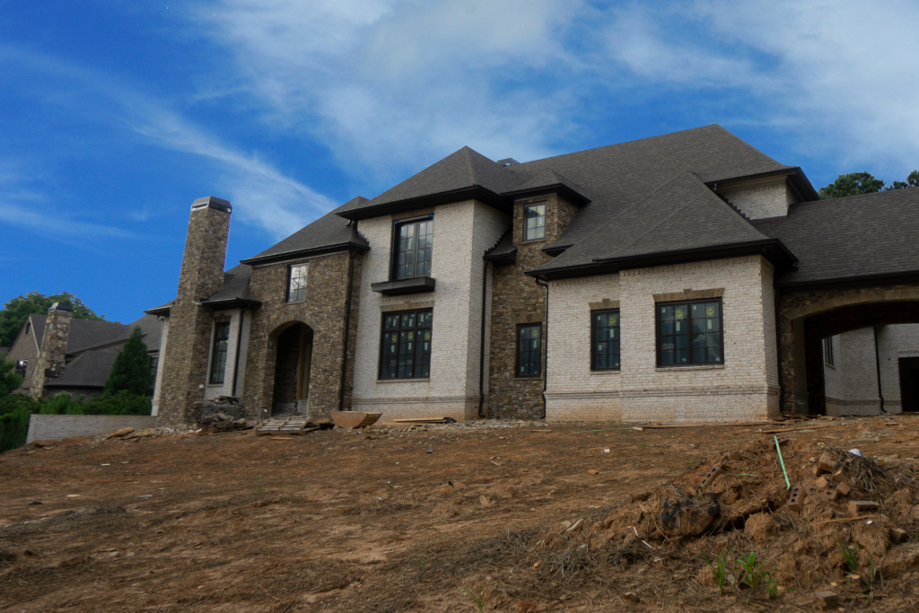New Construction at the Atlanta Country Club after tearing down an older home.